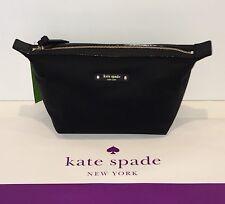 NWT Kate Spade Jodi Wilson Road Cosmetic Black Bag Pouch WLRU3327 $69