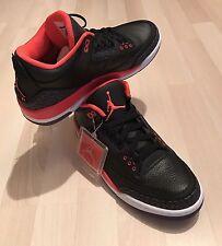 "Nike Air Jordan 3 Retro ""CRIMSON""BLCK/BRGHT CRMSN-CNY PRPL-PR 2013 Release - New"