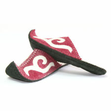 Mongolian Pink Felt Slippers