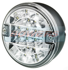 24V VOLT LED REAR 140mm ROUND HAMBURGER REVERSE LAMP LIGHT TRUCK LORRY TRAILER