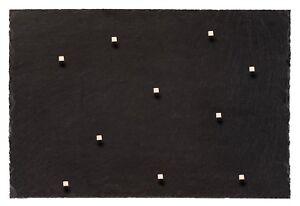 Schiefer Magnettafel (Echter Stein) ! - Massivstein Kreidetafel in 60 cm x 40 cm
