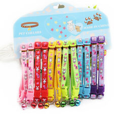12PCS Wholesale Dog Collar Cute Bunny Patterns Collars Puppy Cat Necklace XS XXS