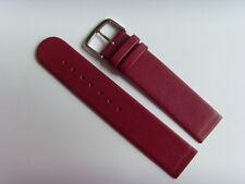 Watch Strap Leather Red 18 mm slide Strap Fastening Screws Skagen Bering Red