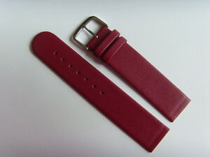 Watch Strap Leather Red 18 MM Slide Attachment Screws Skagen BERING Red