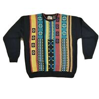Vintage Le Tigre 90s Coogi Style Cosby Sweater  Knit Multi-Color Men's Size XL