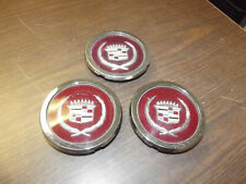 LOT of 3 CENTER CAP WIRE WHEEL COVER 81-85 CADILLAC SEVILLE GOLD EMBLEM