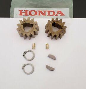 2 GENUINE 42661-VH7-000 HONDA MOWER WHEEL DRIVE GEARS KEYS, 2 SPRINGS & 2 CLIPS