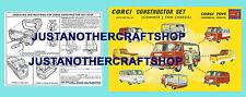 CORGI Toys GS 24 paese per costruttore Set Regalo foglio di istruzioni e POSTER SIGN
