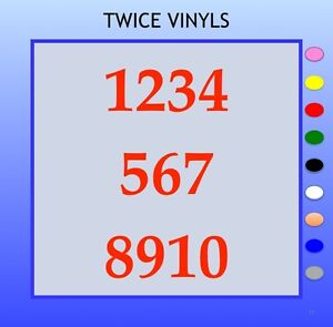 SELF ADHESIVE NUMBERS stickers graphics 1-10 Serif 90mm OR 100mm vinyl set