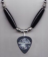 Nickelback Ryan Peake Signature Black Guitar Pick Necklace 2012 Tour