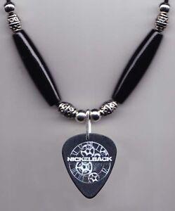 Nickelback Daniel Adair Signature Black Guitar Pick Necklace 2012 Tour