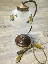 2 x Lampe de table Fleurs Décoratif Pieds en bois environ ca.30cm Haut
