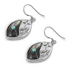 Stars Dangle Earrings Sterling Silver 925 Jewelry Gift Shell Mother of Pearl