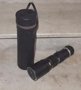 télé auto objectif 400 mm soligor avec housse (excellent état)