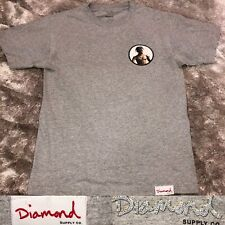 Diamond Supply Co. x Travis Scott RODEO Astroworld Gray Crewneck Tee Shirt Small