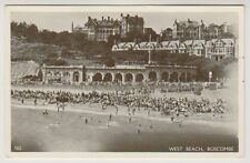 Dorset postcard - West Beach, Boscombe - RP
