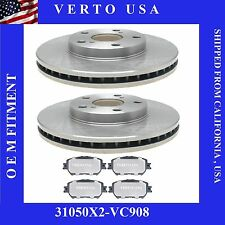 Front Brake Rotors & Ceramic Pads Fit Toyota Camry 2002-2006 4Cyl. & 6 Cyl (LE)