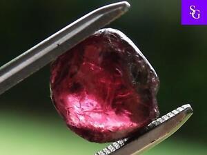 "Tanzanian Natural Rough 6.31 ct Raspberry Garnet ""Stunning_Gemstones"""