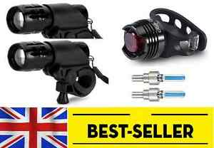 two front + rear + wheel lights set - torch lamp white red light bike zoom flash