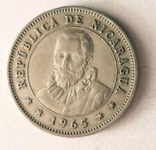 1965 NICARAGUA 25 CENTAVOS - AU - Low Mintage Coin - Lot #N27