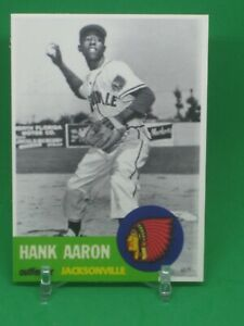 Hank Aaron Jacksonville Minor league card