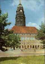 DRESDEN Sachsen AK DDR Postkarte Rathaus City Hall AK ~1970 Verlag Brück & Sohn