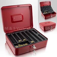 30cm rot Geldkassette Münzkassette Zählkassette Transportkassette Kasse Safe