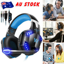 3.5mm Gaming Headset MIC LED Headphones Surround for PC Laptop PS4 Xbox One FLC