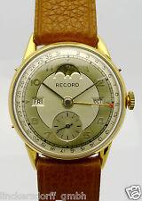 Record Geneve doublè reloj hombre llena Calendario fase lunar de los años 40er/50er