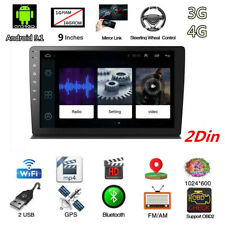 "2Din Android 9.1 9"" Car HD 1080P WIFI Bluetooth GPS Navi Head Unit With Bracket"