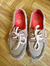 Next Boys Brown Canvas Lace Up Shoes Size 12 Good Condition