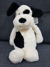 Bashful Puppy Black and Cream Medium Official Jellycat Plush Toy 31cm