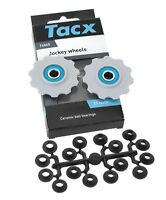 Tacx T4065 Ceramic Jockey Wheels, Pulley Set for Shimano 9/10 Speed, 11 Tooth