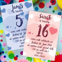 BIRTHDAY PARTY INVITATIONS KIDS INVITES CHILDREN GIRL OR BOY PERSONALISED