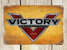 country decor Victory Motorcycles auto shop man cave metal tin sign