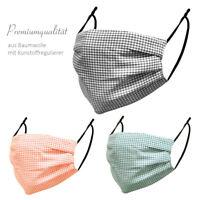 Mundschutz Maske waschbar Stoffmaske 100% Baumwolle Behelfsmaske Alltagsmaske