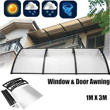 """Outdoor Polycarbonate Front Door Window Awning Patio Cover Canopy 39""""X105"""""""