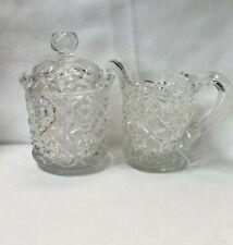 Vintage Lead Crystal Sugar And Creamer Set