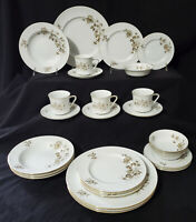 JOHANN HAVILAND 28 pc Dinnerware Set TWILIGHT ROSE Service / 4 plate bowl MINTY