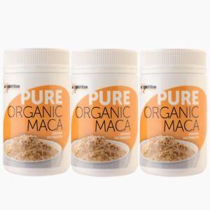 3 x Maca Pure Organic 120 tablets 1000mg