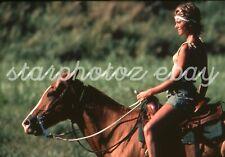 Super Rare Classic 5x7 Enlargement Olivia Newton-John! On Horseback!