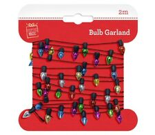 2m Christmas Mini Lightbulbs Garland Coloured Gift Wrap String Decoration Xmas