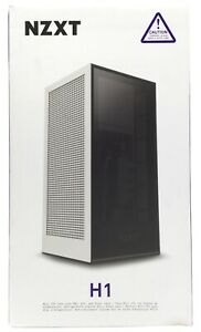 NZXT H1 CA-H16WR-W1-US Matte White Steel/Tempered Glass Mini-ITX with PSU,AIO,RC