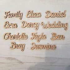 Personalised child's names, letters  words Wedding, Art Wooden MDF craft plaque