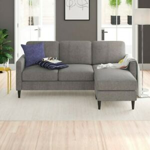 """81.63"""" Wide Reversible Sectional Sofa & Chaise with Ottoman Living Room/Lounge"""