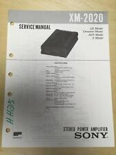 Sony Service Manual for the XM-2020 Amplifier Amp ~ Repair   mp