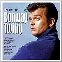 THE BEST OF CONWAY TWITTY ~ NEW SEALED 2CD 50 ORIGINAL ROCK + ROLL RECORDINGS.