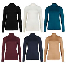 LADIES MARKS & SPENCER HEATGEN THERMAL POLO NECK ROLL TURTLE NECK TOP M&S