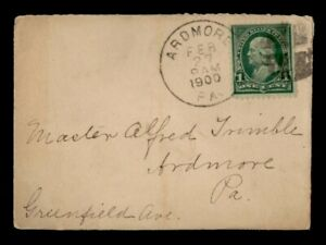 DR WHO 1900 ARDMORE PA FANCY CANCEL  f55259