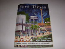 FORD TIMES Magazine, April, 1968, HEMISFAIR 1968 IN SAN ANTONIO, 1968 MUSTANG!